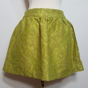 Tobi Neon Green/Yellow Mini Skirt XS